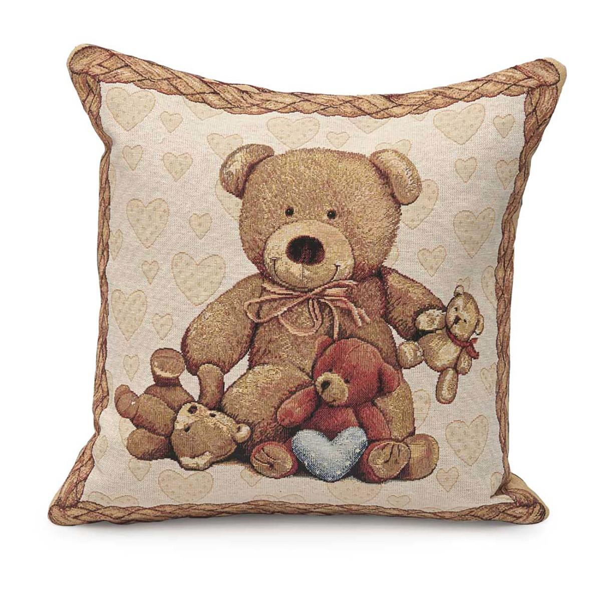Διακοσμητική Μαξιλαροθήκη Kentia Kids Teddy home   παιδικά   διακοσμητικά μαξιλάρια παιδικά