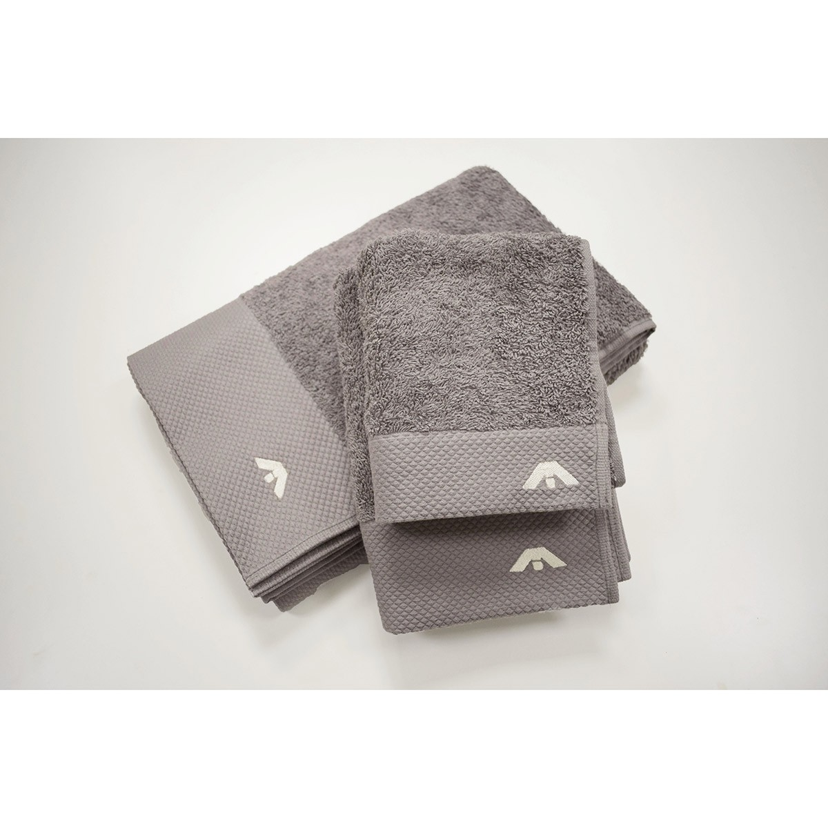 Πετσέτες Μπάνιου (Σετ 3τμχ) AP Milano Italia Grey 74838