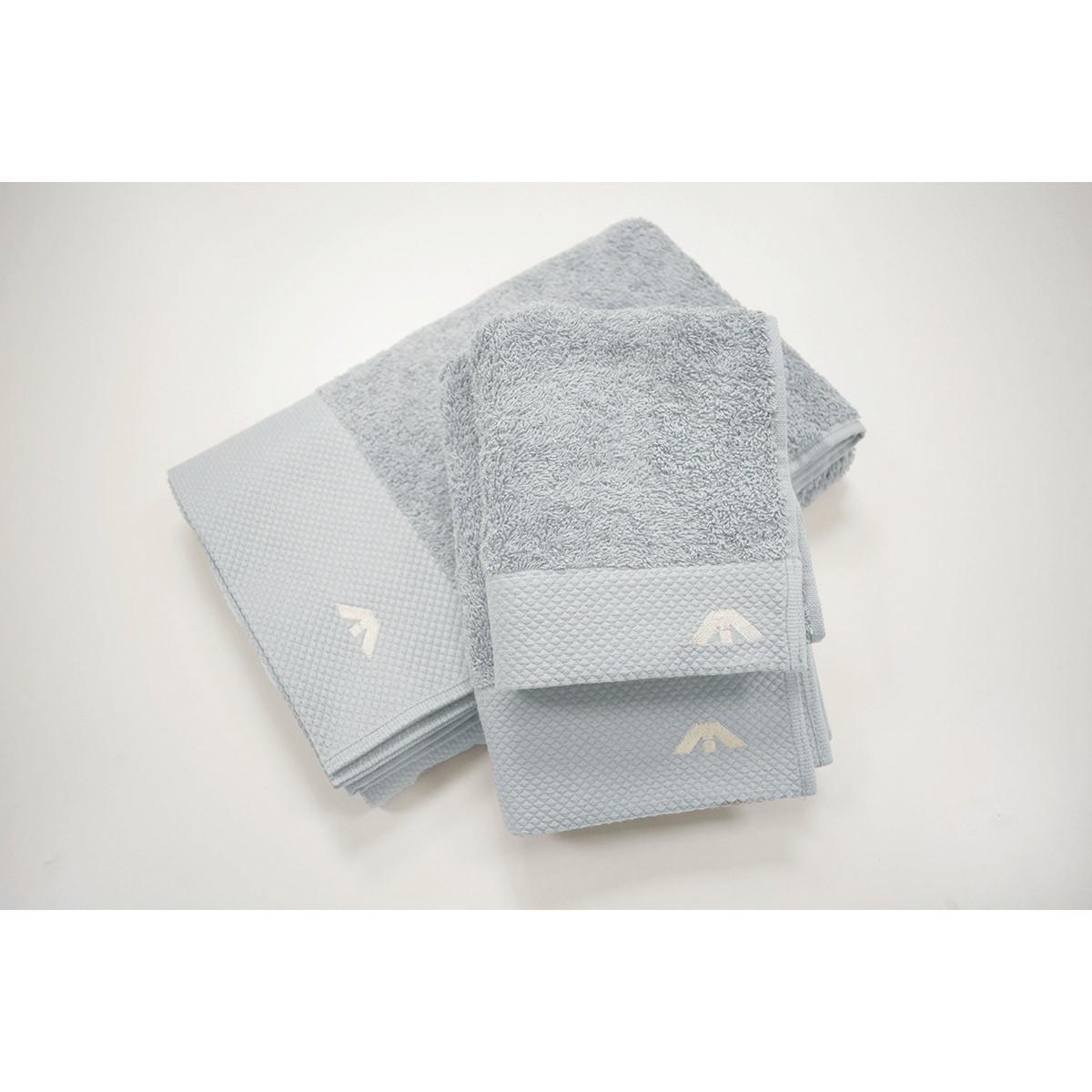 Πετσέτες Μπάνιου (Σετ 3τμχ) AP Milano Italia Dusty Blue