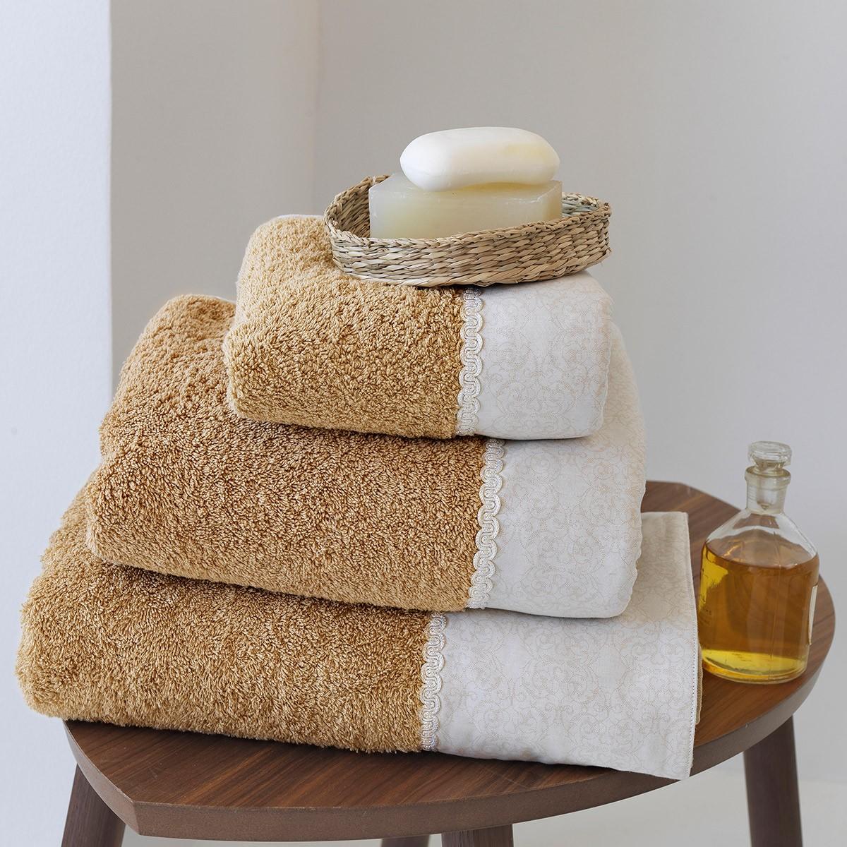 Πετσέτες Μπάνιου (Σετ 3τμχ) Sb Home Savannah
