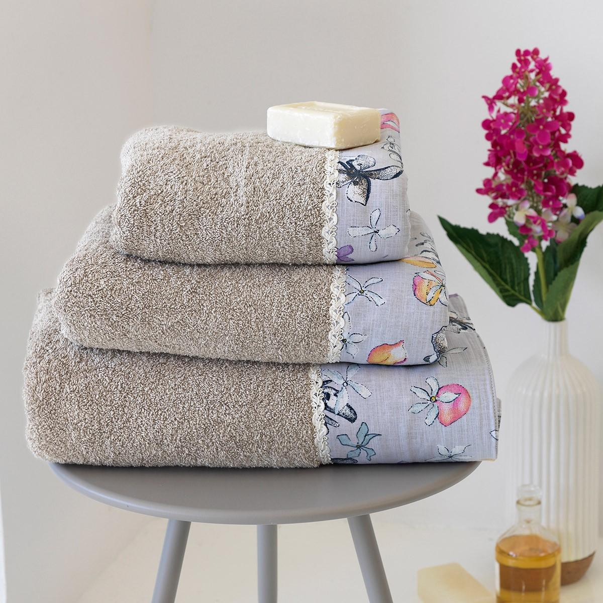 Πετσέτες Μπάνιου (Σετ 3τμχ) Sb Home Erofili