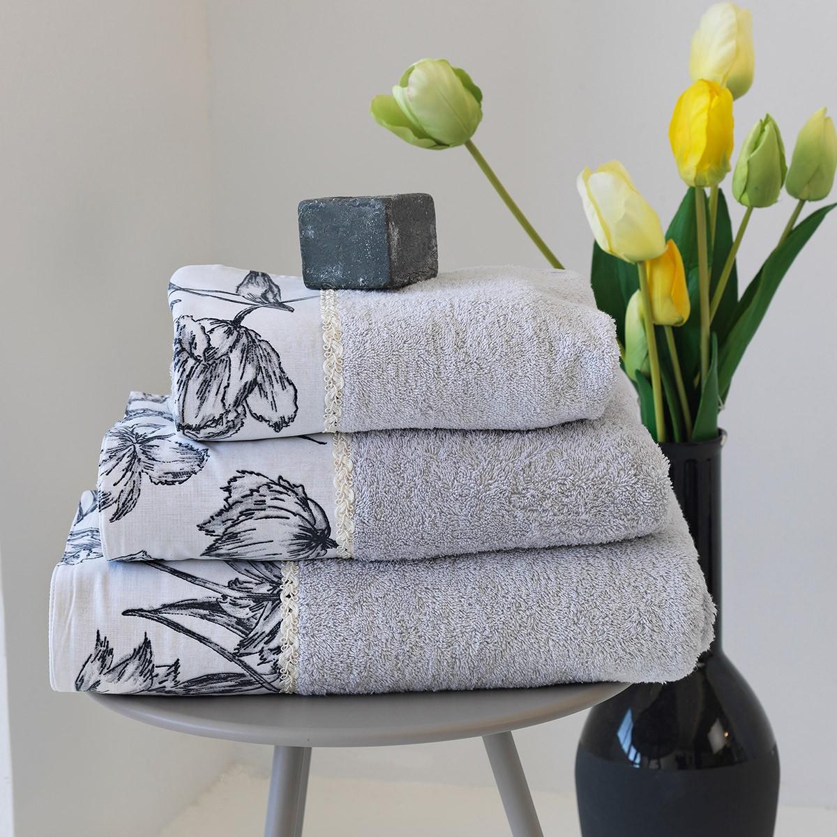 Πετσέτες Μπάνιου (Σετ 3τμχ) Sb Home Ianthi