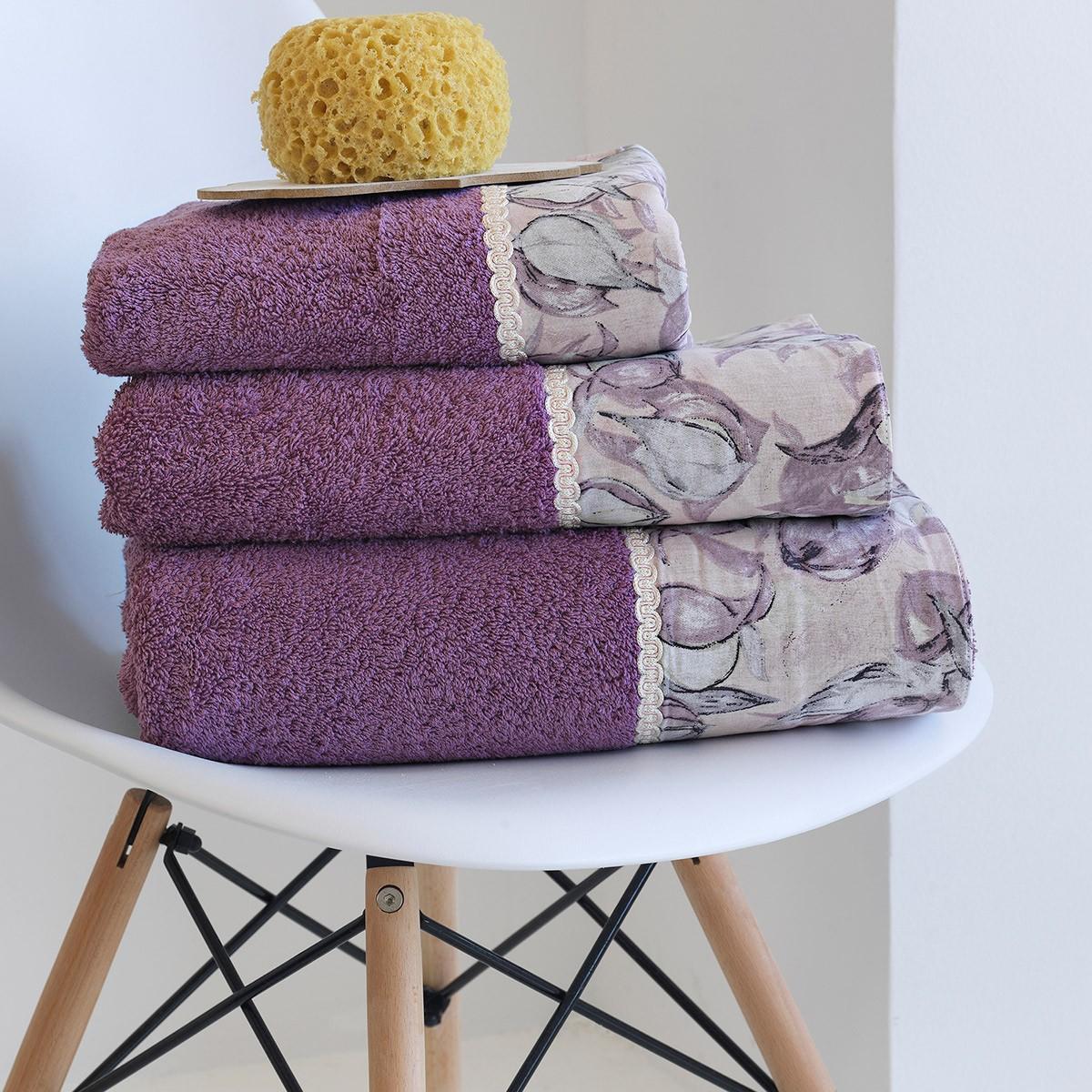 Πετσέτες Μπάνιου (Σετ 3τμχ) Sb Home Neso