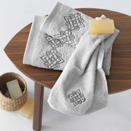 Πετσέτες Μπάνιου (Σετ 3τμχ) Sb Home Mythos Silver