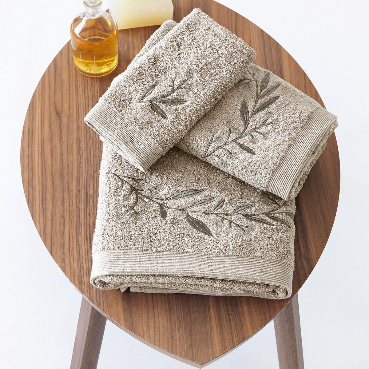 Πετσέτες Μπάνιου (Σετ 3τμχ) Sb Home Elea Sand