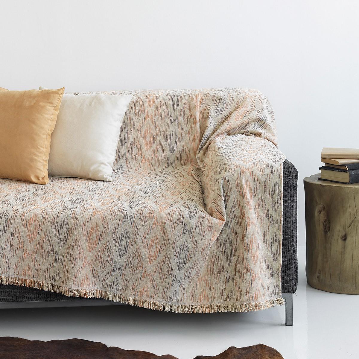 Ριχτάρι Τριθέσιου (180x300) Sb Home Rhombus Peach