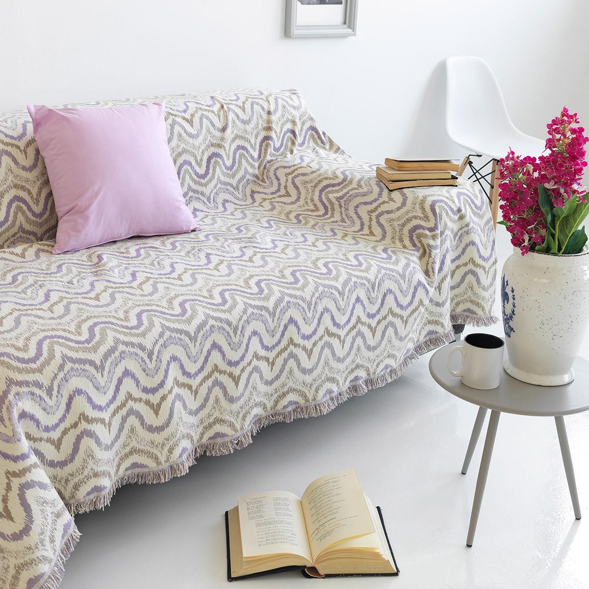 Ριχτάρι Τριθέσιου (180×300) Sb Home Waves Lilac
