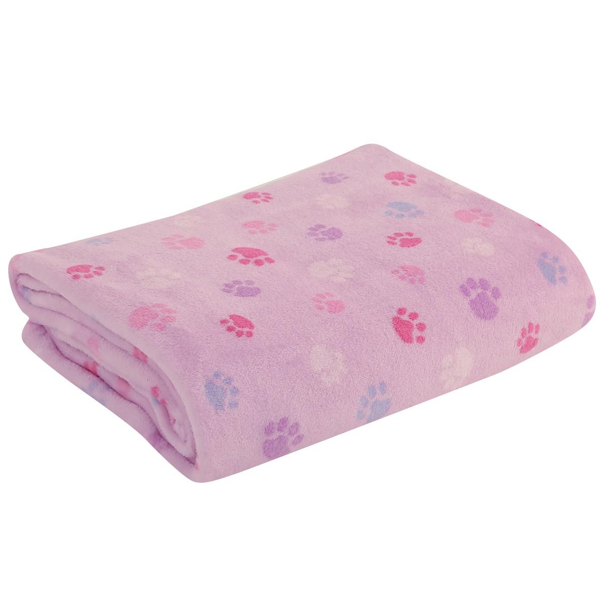 Κουβέρτα Fleece Αγκαλιάς Nef-Nef Baby Footprint Lilac