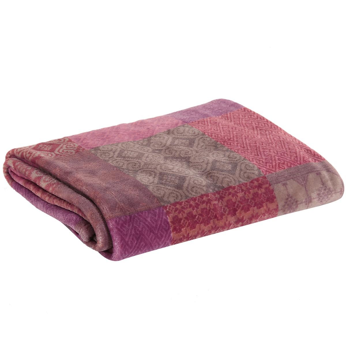 Κουβέρτα Καναπέ Nef-Nef Ortus Cherry