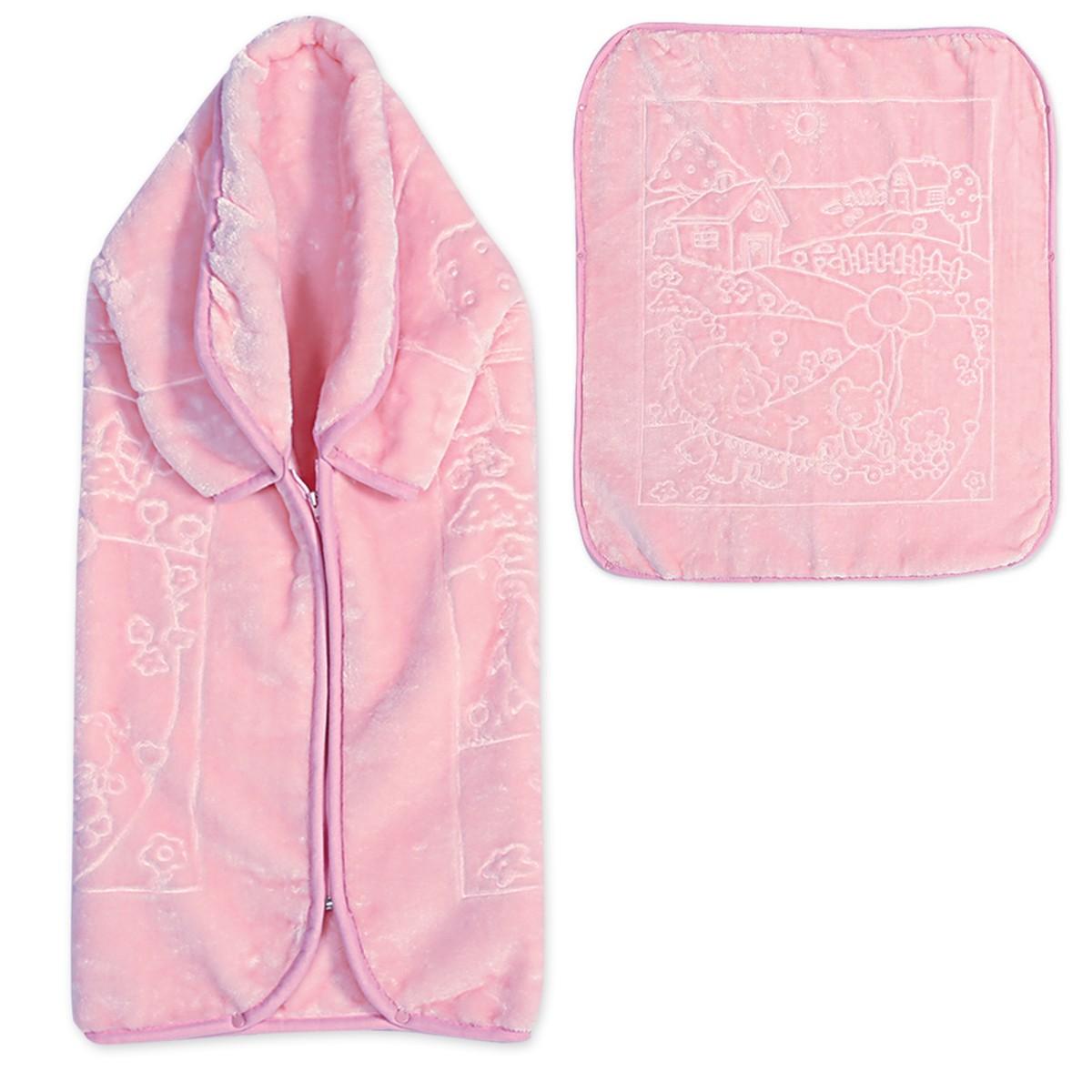 Υπνόσακος Κουβέρτα Βελουτέ Nef-Nef Play House Pink