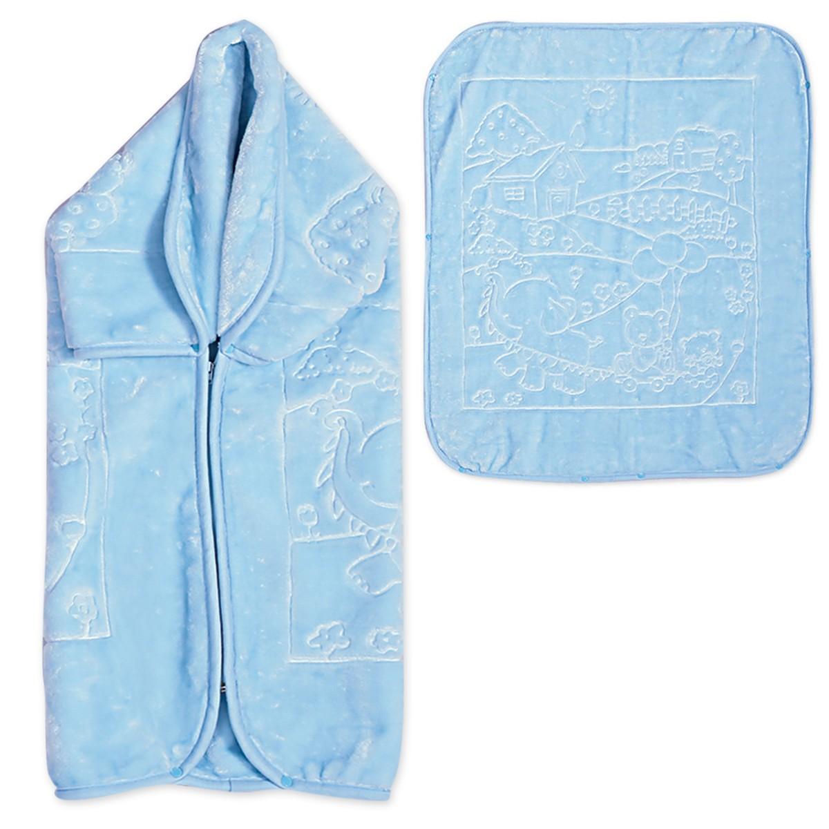 Υπνόσακος Κουβέρτα Βελουτέ Nef-Nef Play House Blue