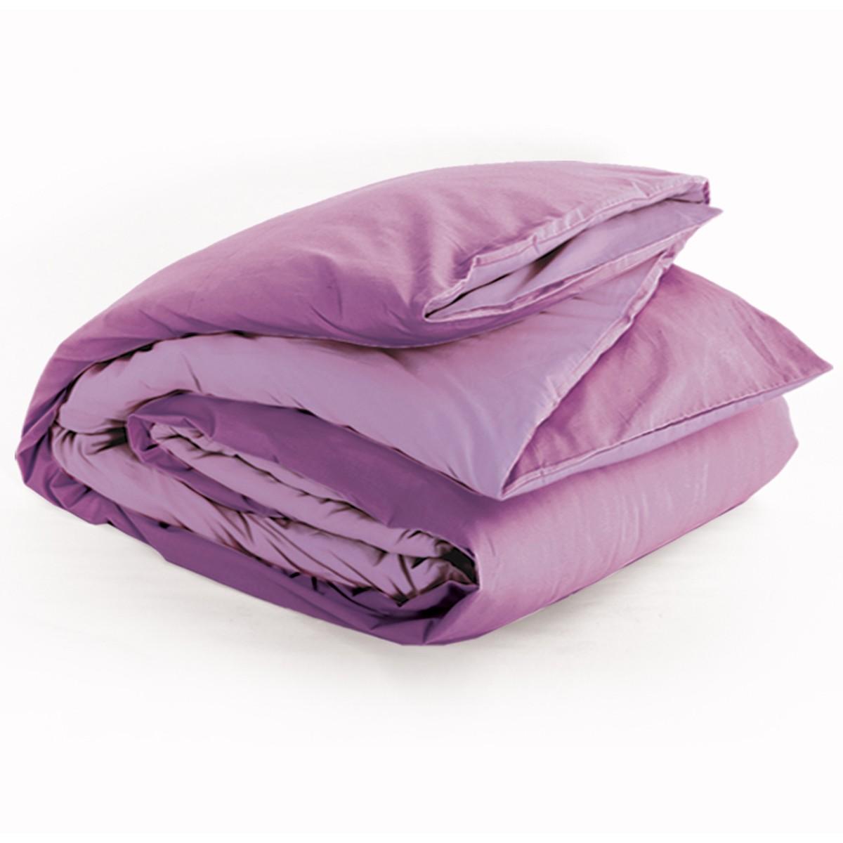 Παπλωματοθήκη Υπέρδιπλη 2 Όψεων Nef-Nef Bicolor Violet/Lilac