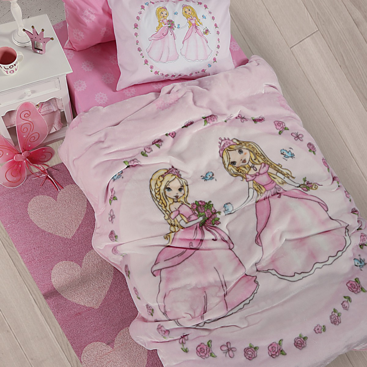 Κουβέρτα Βελουτέ Μονή Nef-Nef Junior Pretty Princess
