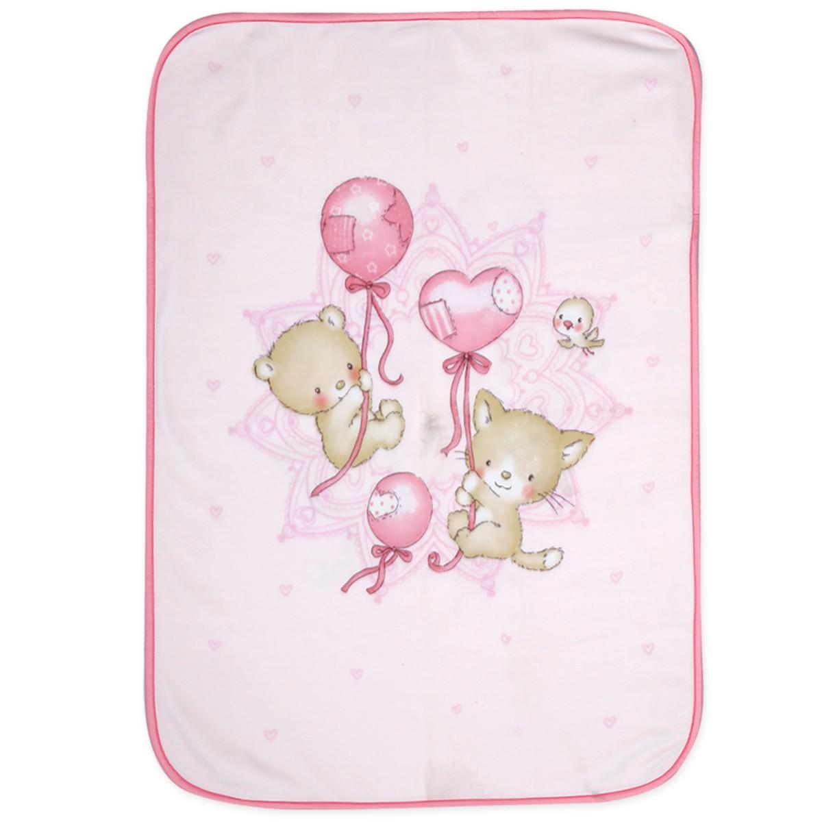 Κουβέρτα Βελουτέ Κούνιας Nef-Nef Baby Balloon Pets