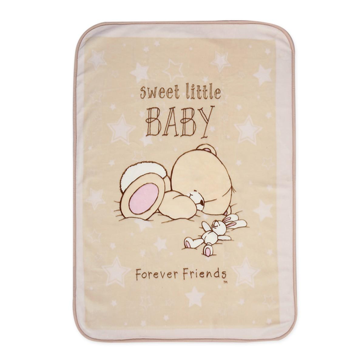 Κουβέρτα Βελουτέ Αγκαλιάς Nef-Nef Baby FF Forever Sleepy 76174