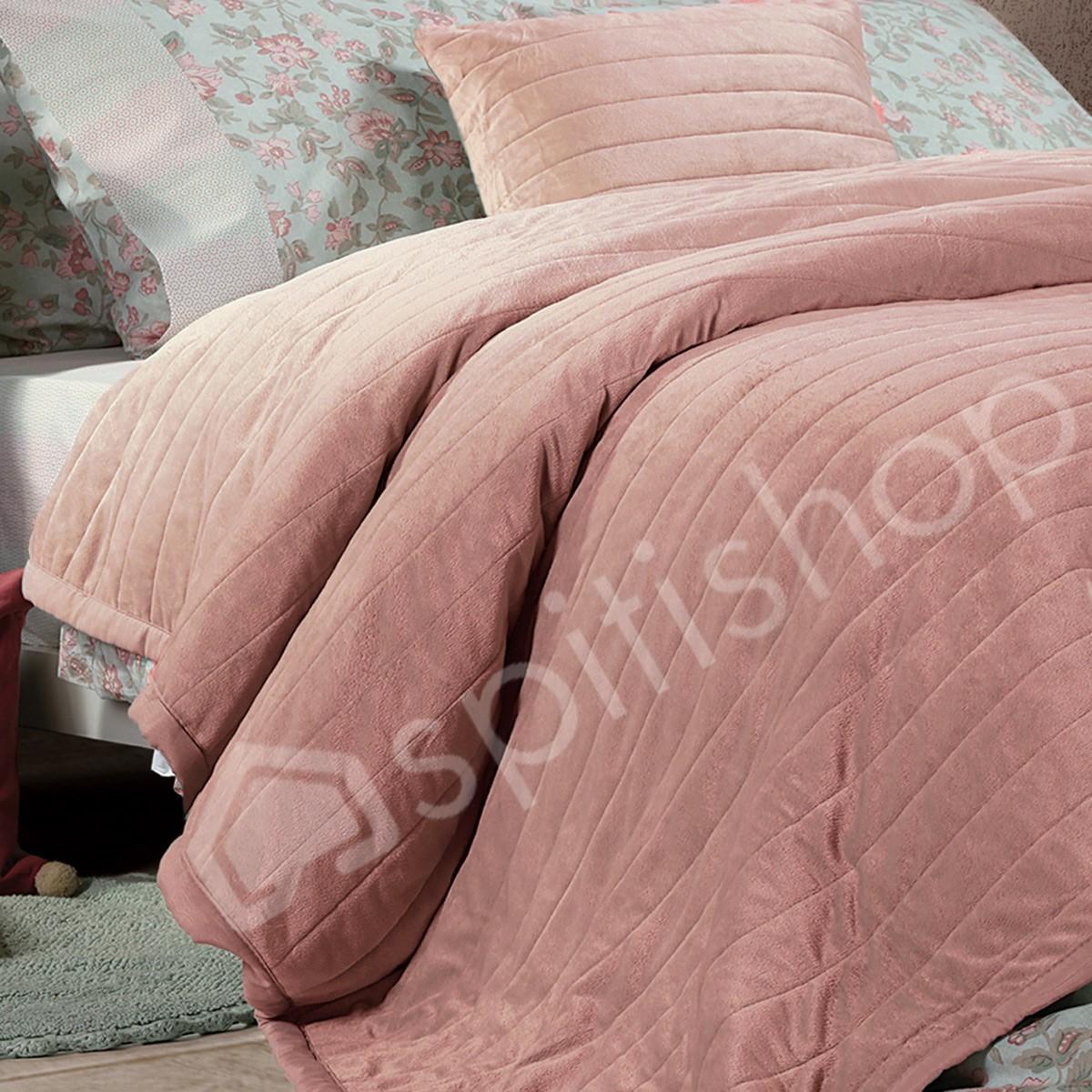 Κουβερλί Υπέρδιπλο Nef-Nef Velvet Suede English Rose 76403