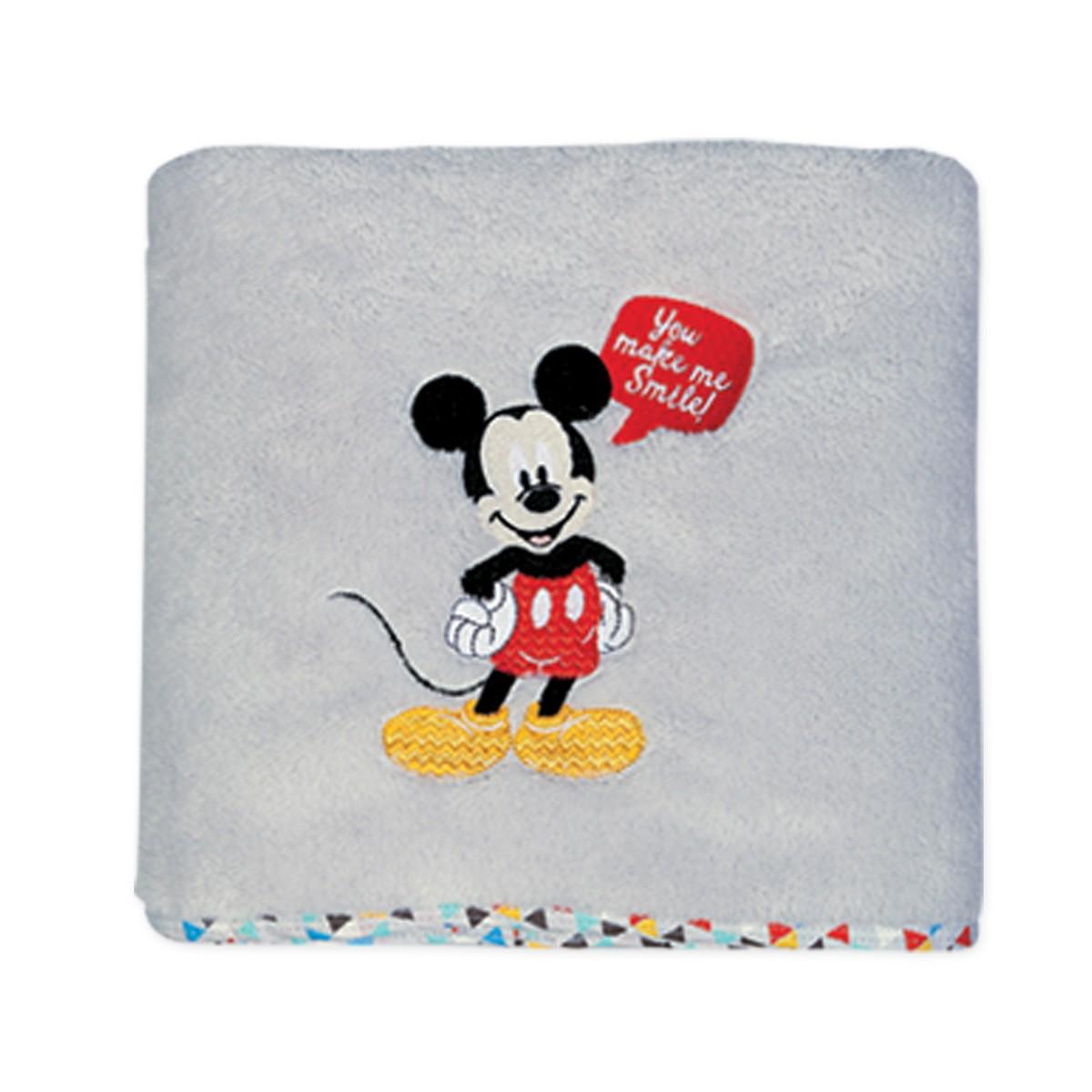 Κουβέρτα Fleece Κούνιας Nef-Nef Disney Mickey Smile