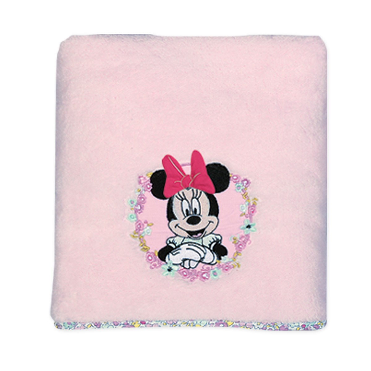 Κουβέρτα Fleece Κούνιας Nef-Nef Disney Minnie Little Flower 76484