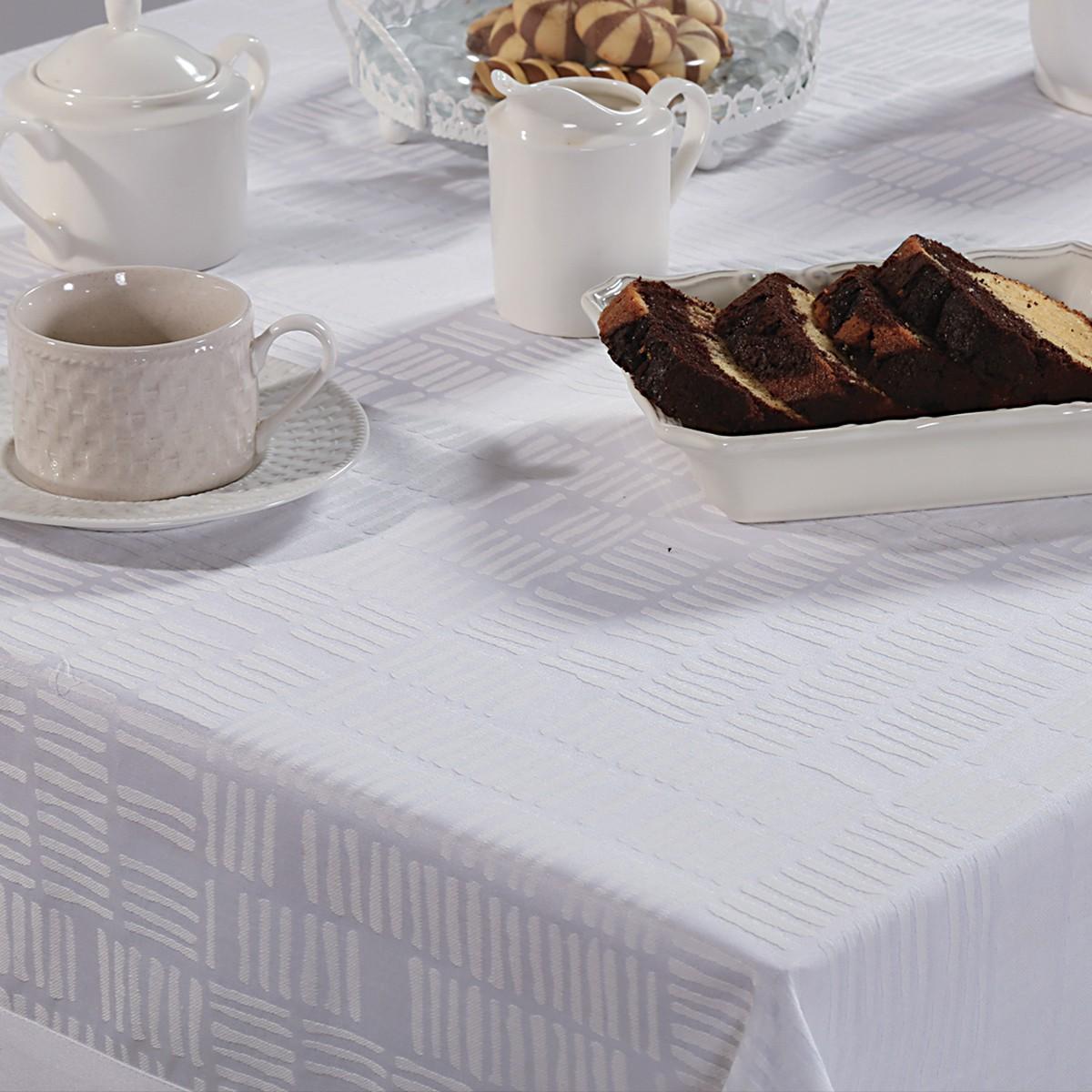 Τραπεζομάντηλο (160×300) Nef-Nef Stavento White 76517