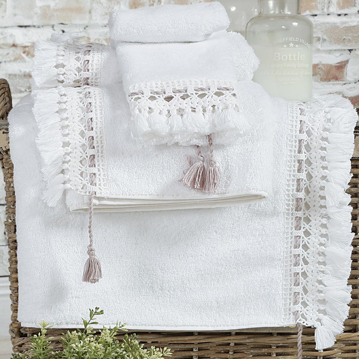 Πετσέτες Μπάνιου (Σετ 3τμχ) Nef-Nef Synthia