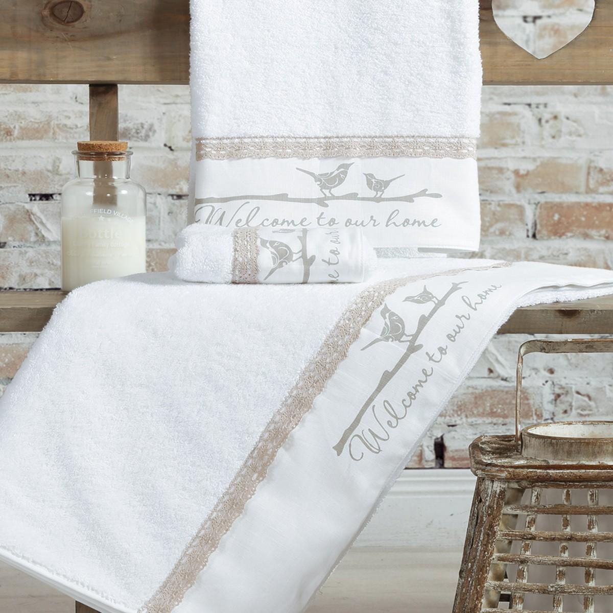 Πετσέτες Μπάνιου (Σετ 3τμχ) Nef-Nef Welcome