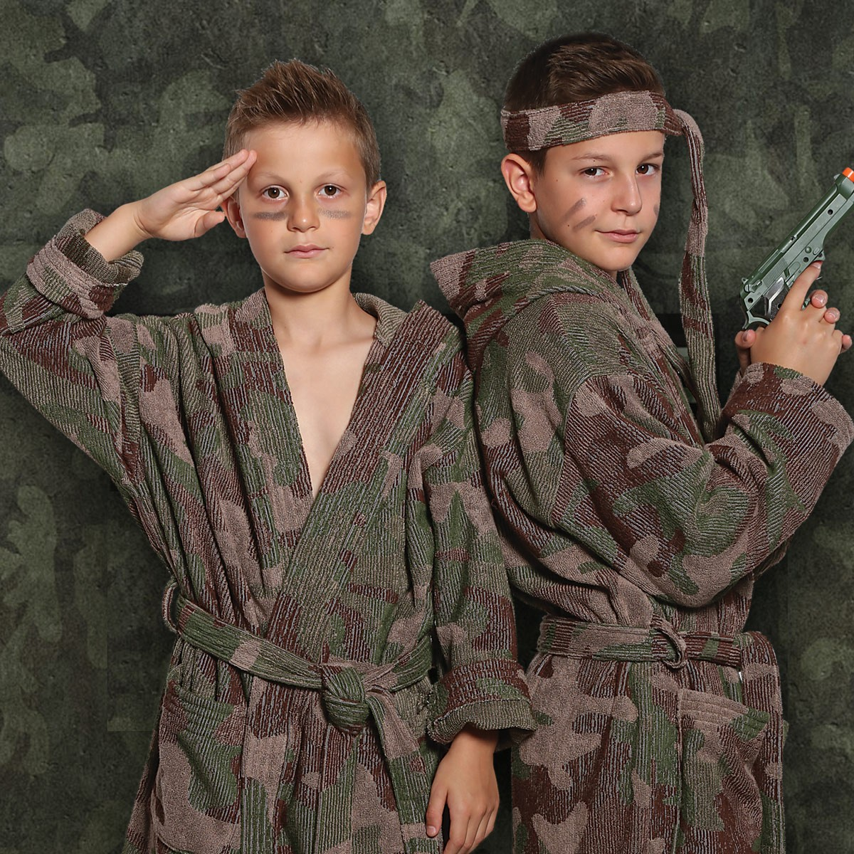 Παιδικό Μπουρνούζι Nef-Nef Junior Camouflage 10 10
